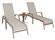 Island Breeze Sling 3 PC Chaise Lounge set