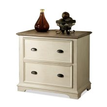 Coventry Lateral File Cabinet Weathered Driftwood/Dover White finish