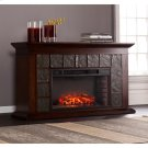 Newberg Electric Fireplace - Warm Brown Walnut Product Image