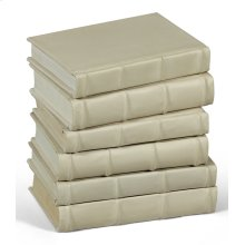 Books, Set Of 6, Antique White