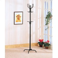 Contemporary Stain Black Coat Rack Product Image