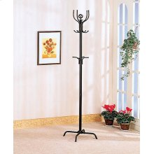 Contemporary Stain Black Coat Rack