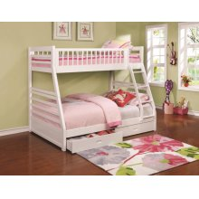 Ashton White Twin-over-full Bunk Bed