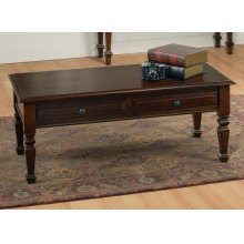 Florentino Leg Coffee Table w/2 Drawers