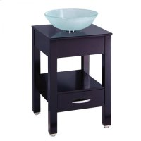 Single 19.5 in. W Black Finish Vanity Product Image