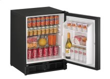 "21"" ADA Solid Door Refrigerator Black Solid (Lock) Right-Hand Hinge"
