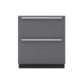 """30"""" Refrigerator/Freezer Drawers with Ice Maker - Panel Ready"""