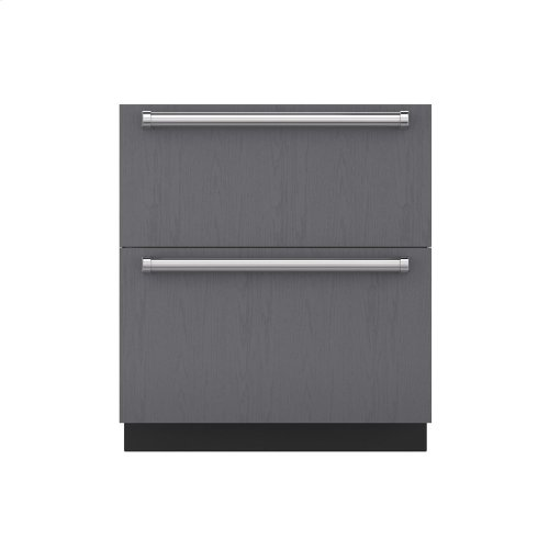 """30"""" Refrigerator and Freezer Drawers with Ice Maker - Panel Ready"""