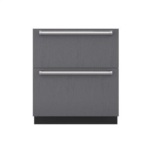 "30"" Refrigerator and Freezer Drawers - Panel Ready"