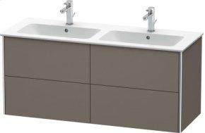 Vanity Unit Wall-mounted, Flannel Grey Satin Matt Lacquer