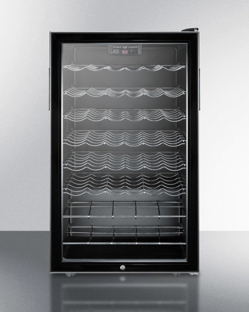 "Commercially Listed 20"" Wide Freestanding Wine Cellar With Lock and Digital Thermostat"