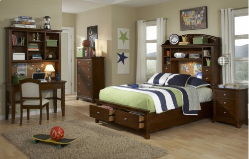 Impressions Bookcase Bed with Storage Full