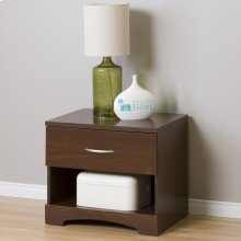 1-Drawer Nightstand - End Table with Storage - Sumptuous Cherry