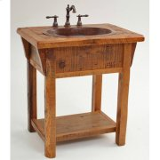 Stony Brooke Open Vanity With Shelf and Wood Top Product Image
