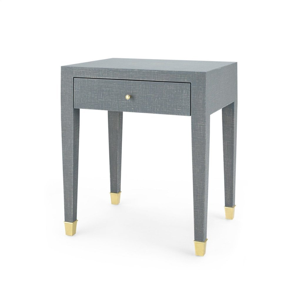Claudette 1-Drawer Side Table, Gray