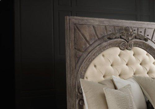 True Vintage King Upholstered Panel Bed