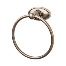 Edwardian Bath Ring Oval Backplate - German Bronze
