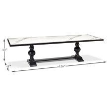 """Large 120"""" Dining Table, As Shown"""