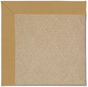 Creative Concepts-Cane Wicker Canvas Brass Machine Tufted Rugs