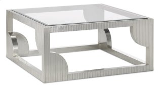 Morneau Silver Cocktail Table - 18h x 40w x 40d