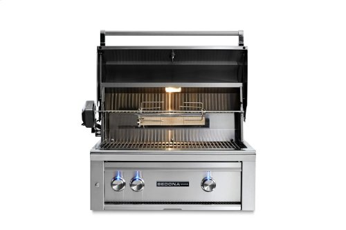 "30"" Sedona by Lynx Built In Grill with 2 Stainless Steel Burners and Rotisserie, NG"