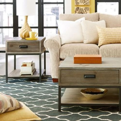 Parsons Rectangular End Table W/ Drawer