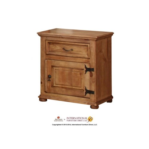 Right Nightstand w/Door, 1 Drawer
