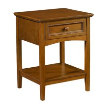 "Parker ""Cinnamon"" 1-Drawer Nightstand"