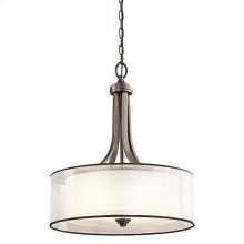 Lacey Collection 4 Light Inverted Pendant  Mission Bronze