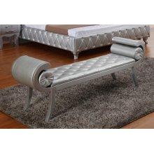 Modrest Monte Carlo Platinum Leatherette Bench