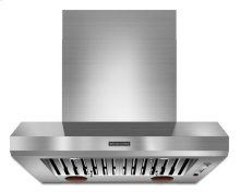 36'' Wall-Mount 600-1200 CFM Canopy Hood, Commercial-Style - Stainless Steel
