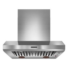 "36"" Wall-Mount 600-1200 CFM Canopy Hood, Commercial-Style - Stainless Steel"