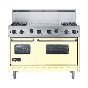 """Lemonade 48"""" Sealed Burner Range - VGIC (48"""" wide, four burners 24"""" wide griddle/simmer plate)"""