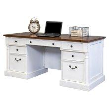 """66"""" Double Pedestal Executive Desk"""