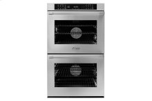 "30"" Heritage Double Wall Oven, Silver Stainless Steel, Flush handle"