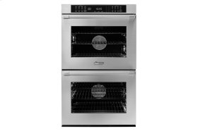 """30"""" Heritage Double Wall Oven, Silver Stainless Steel, Flush handle"""