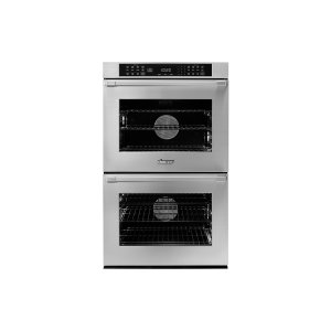 "Dacor30"" Heritage Double Wall Oven, Silver Stainless Steel, Flush handle"
