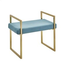 Velveteen Bench, Gold/teal