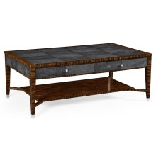 Faux Macassar Ebony & Anthracite Shagreen Coffee Table