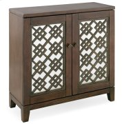 Mirrored Diamond Filigree Hallstand/Entryway Table with Adjustable Shelf #10083-WA Product Image