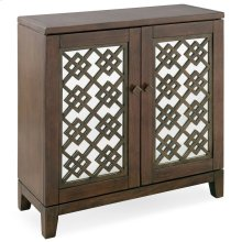 Mirrored Diamond Filigree Hallstand/Entryway Table with Adjustable Shelf #10083-WA
