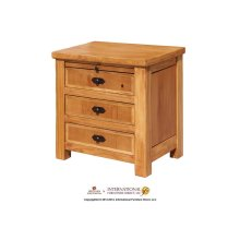 3 Drawer w/Tray Nightstand