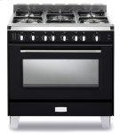 "Matte Black Verona Classic 36"" Gas Single Oven Range Product Image"