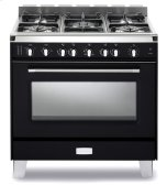 "Matte Black  Classic 36"" Gas Single Oven Range"