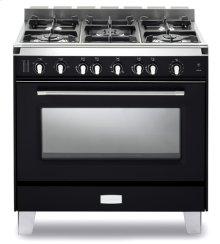 "Matte Black Verona Classic 36"" Gas Single Oven Range"
