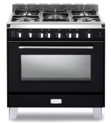 "Matte Black Verona Classic 36"" Gas Single Oven Range"