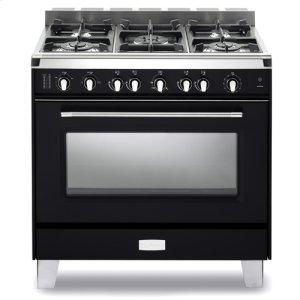 "VeronaCLASSICMatte Black Verona Classic 36"" Gas Single Oven Range"