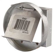 "4"" Diameter Galvanized Metal Duct Collar with Damper"