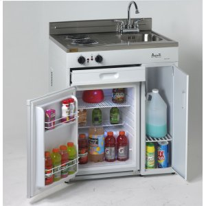 "Avanti30"" Complete Compact Kitchen with Refrigerator"
