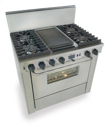 "36"" Dual Fuel, Convect, Self-Clean, Sealed Burners, Stainless Steel"